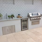 After night Outdoor Kitchen