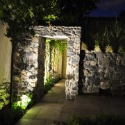 ranelagh garden arch lighting at night