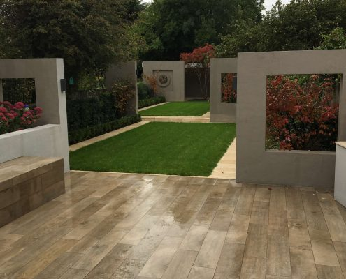 Rathgar Garden Wood Tiled Terrace